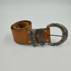 anthropologie another line suede belt tan